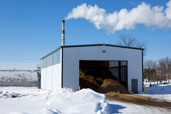 Carbon neutral fuel used to heat the farm